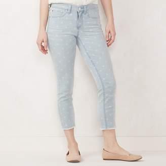 Lauren Conrad Women's Frayed Skinny Ankle Jeans