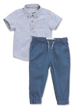 Sovereign Code Boys' Crystal Cove Flamingo-Print Shirt & Jogger Pants Set - Baby