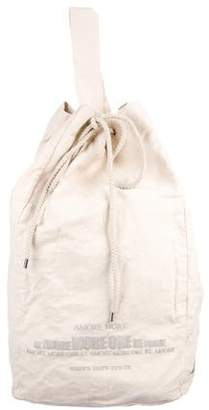 Brunello Cucinelli Canvas Drawstring Beach Bag