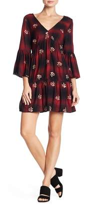 Angie V-Neck Floral Print Dress