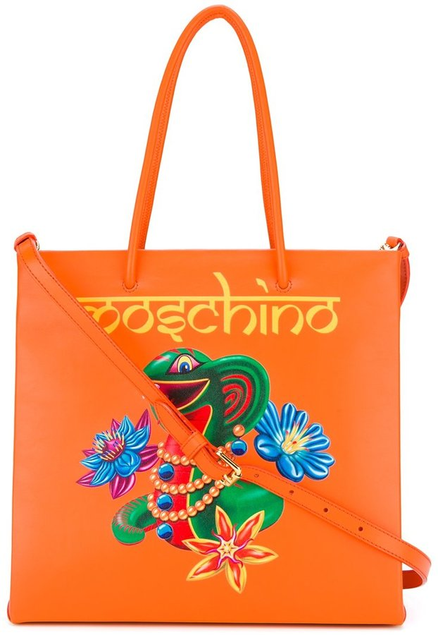 Moschino Moschino jewelled snake tote