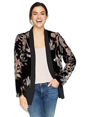 Karen Kane Women's Velvet Burnout Contrast Jacket