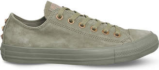 Converse low-top studded suede trainers