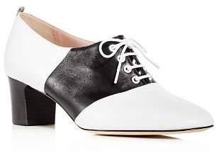 Sarah Jessica Parker Women's Olivia Leather Block-Heel Oxfords