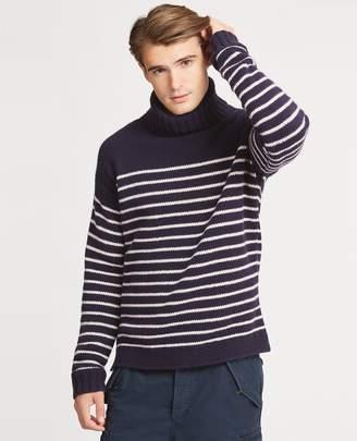 Ralph Lauren Striped Wool Turtleneck