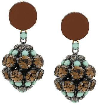 Marni strass clip-on earrings