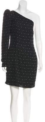Robert Rodriguez Embellished One-Shoulder Mini Dress