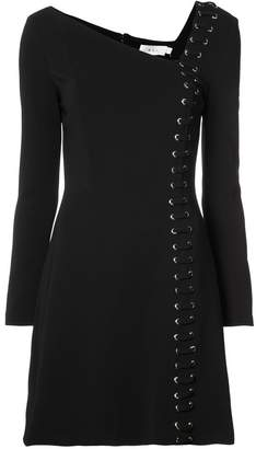 A.L.C. asymmetric neck lace-up mini dress