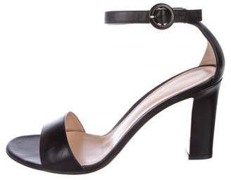 Gianvito Rossi Leather Round-Toe Sandals