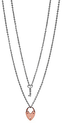 Fossil Key to my Heart Necklace