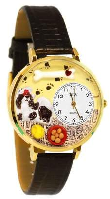 Whimsical Watches Shih-Tzu Watch in Gold (Large)