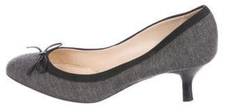 Pancaldi for Diane B Felt Round-Toe Pumps