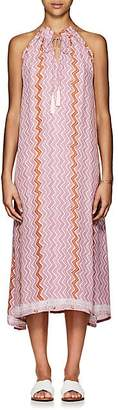Natalie Martin Women's Marlien Zigzag-Print Silk Maxi Dress - Light, Pastel pink