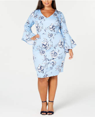 Love Squared Trendy Plus Size Floral-Print Sheath Dress