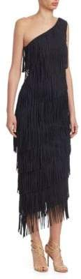 Chiara Boni One Shoulder Fringe Dress