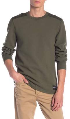 Calvin Klein Long Sleeve Waffle Knit Crew Neck Pullover