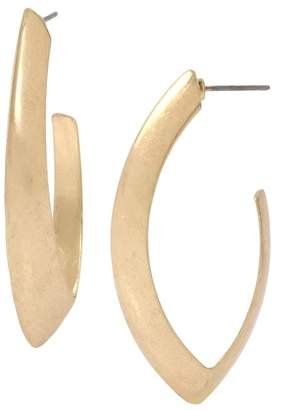 Robert Lee Morris Gold Plated Oval Open Hoop Earrings