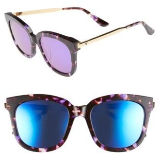 Women's Gentle Monster Absente 54Mm Zeiss Lens Sunglasses - Purple Mirror/ Gold $230 thestylecure.com