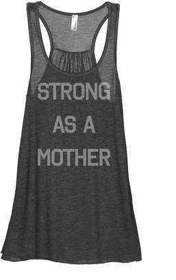 Thread Tank Strong As A Mother Women's Fashion Sleeveless Flowy Racerback Tank Top Grey