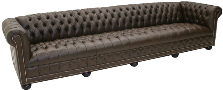 """Old Hickory Tannery Tejas"""" Chesterfield Sofa"""