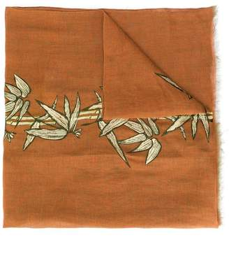 Etro embroidered bamboo scarf