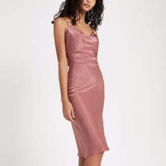 River Island Womens Pink cowl neck slip dress