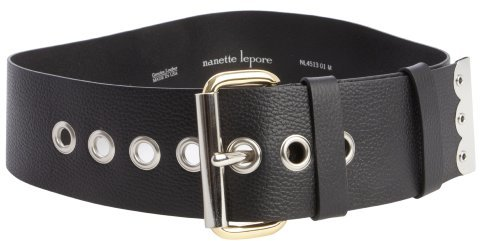 Nanette Lepore black leather 'Dakota' belt