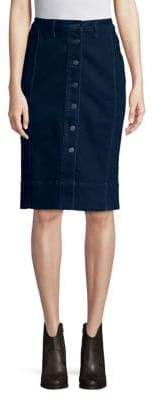 Lord & Taylor Petite Button-Front Knee-High Skirt