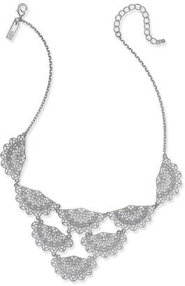 "INC International Concepts I.n.c. Silver-Tone Crystal Fan Statement Necklace 18"" + 3"" extender, Created for Macy's"