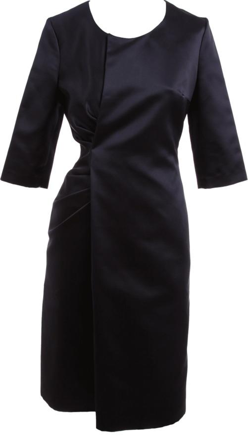 Jil Sander Three Quarter Sleeve Dress with Drape Side