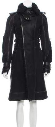 Belstaff Leather Shearling Coat