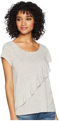 BB Dakota Fatima Linen-Like Ruffle Top Women's Clothing