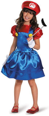 BuySeasons Super Mario Bros Mario W or skirt Big Girls Costume