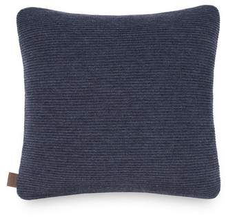 "UGG Horizontal Rib Wool Blend Pillow - Imperial/Granite - 18"" Square"