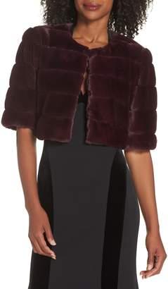 Eliza J Faux Fur Crop Jacket