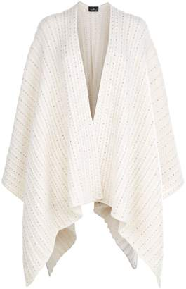 William Sharp Waffle Knit Poncho