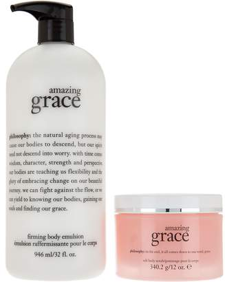 philosophy super-size hot salt scrub & body lotion duo