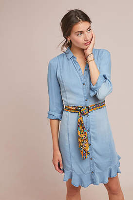 Pilcro and the Letterpress Pilcro Belted Chambray Shirtdress