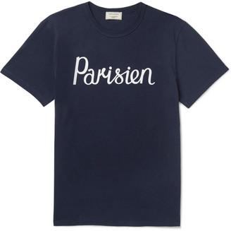 MAISON KITSUNÉ Printed Cotton-Jersey T-Shirt - Men - Blue