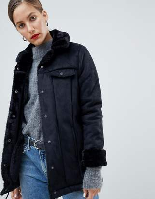 NATIVE YOUTH Premium Sherpa Drawstring Jacket