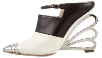 Nicholas Kirkwood Embellished Wedge Sandals