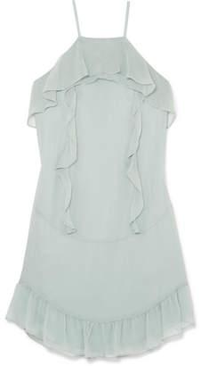 Rachel Zoe Colby Ruffled Silk-chiffon Mini Dress - Mint