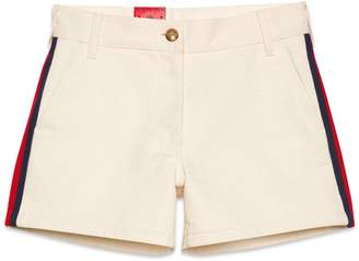 Gucci Cotton shorts with Web