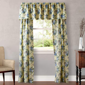 Laura Ashley Home Linley Nature/Floral Semi-Sheer Rod Pocket Curtain Panels