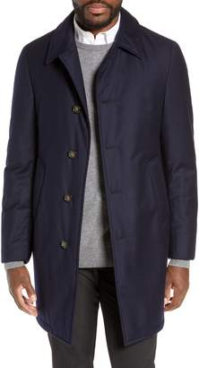 Hickey Freeman Wool Blend Down & Feather Coat
