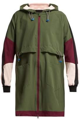The Upside Saratoga Hooded Technical Jacket - Womens - Khaki Multi