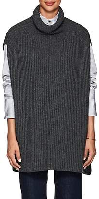 Barneys New York Women's Rib-Knit Cashmere Cape - Charcoal