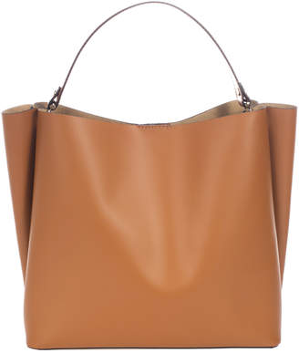 Italian Leather Unstructured Tote