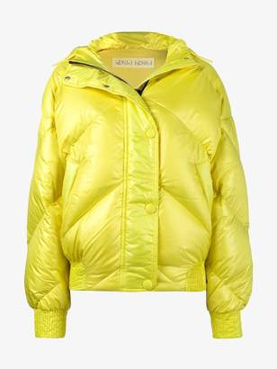 Dunlop Ienki Ienki Yellow hooded puffer jacket