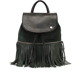 Backpack With Removable Fringe La Belle Verte Combo